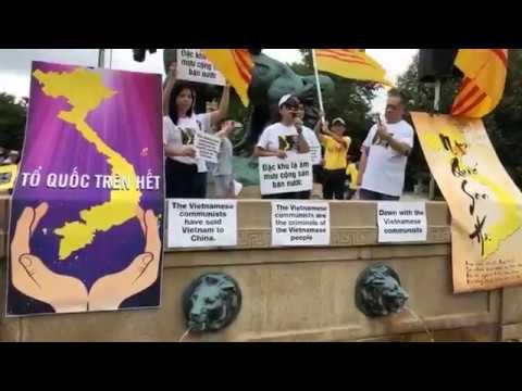 Cộng đồng người Việt Hoa Thịnh Đốn xuống đường biểu-tình chống dự-thảo luật đặc-khu và an-ning-mạng