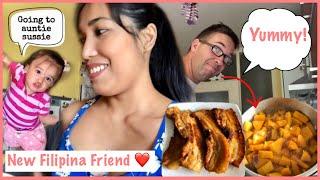 MAY BAGONG FILIPINA FRIEND + GINISANG KALABASA | Filipina German couple