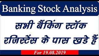 Banking stock analysis 19.08.2019 #Banknifty #Nifty #Mtech
