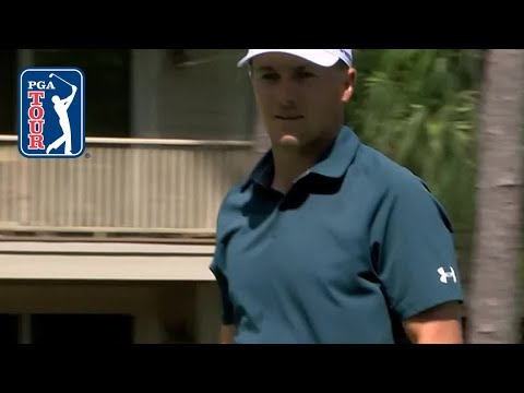 Jordan Spieth lips out from 189 yards at RBC Heritage 2019
