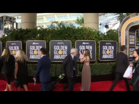 Golden Globes' red carpet action before gala kicks off