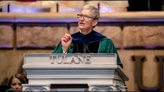 LIVE: Apple CEO Tim Cook gives the graduation commencement speech at Tulane