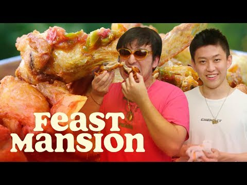 Feast Mansion S1: E#2 - Joji and Rich Brian Make Spicy Indonesian Fried Chicken | Feast Mansion