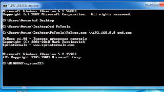 How to Get Command Prompt On Remote System -- PsExec