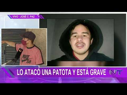 JOSÉ C. PAZ: Una patota atacó a un joven y está grave