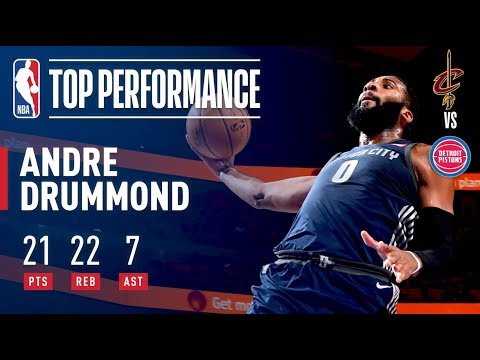Andre Drummond Puts Up 21/22/7 in Win Over Cavs | January 30, 2018
