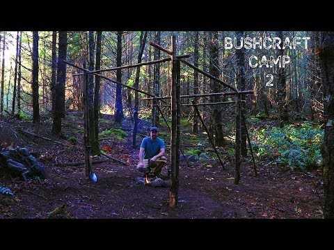 Bushcraft Camp 2: A Super Shelter Frame Build