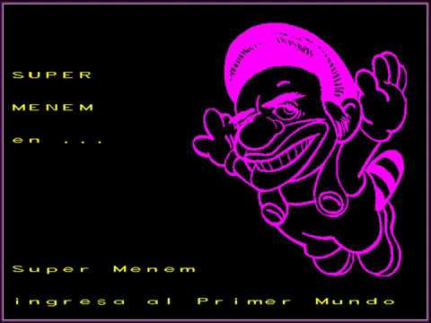 Super Menem Bros. (Historieta Interactiva) (MS-DOS) [1993] [PC Longplay]