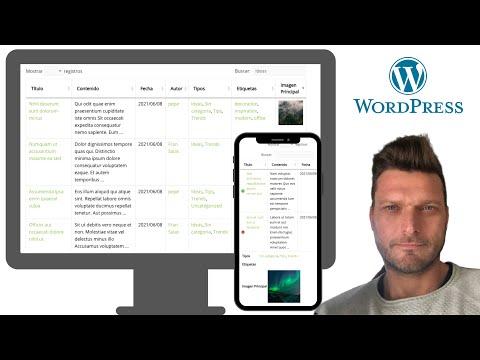 ✅  TABLA DE ENTRADAS (Responsive) + FILTROS + BUSCADOR | WORDPRESS | Posts Table with Search & Sort