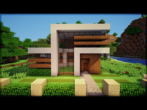 Youtube minecraft construindo uma pequena casa moderna for Casa moderna y pequena en minecraft