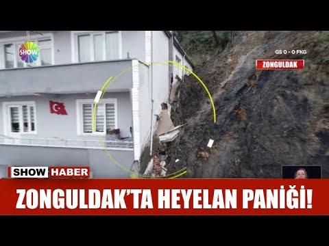 Zonguldak'ta heyelan paniği!