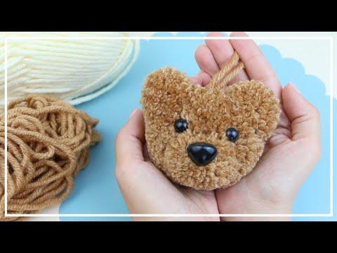 Как сделать Мишку Помпон 🐻🧶 Charm teddy bear pompon Idea 🧶🐻DIY NataliDoma