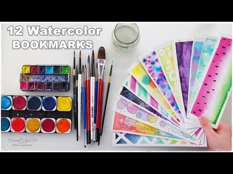 ? DIY: 12 Easy Watercolor Bookmarks Ideas for Beginners ♡ Maremi's Small Art ♡