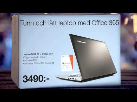 Tunn och lätt laptop med Office 365