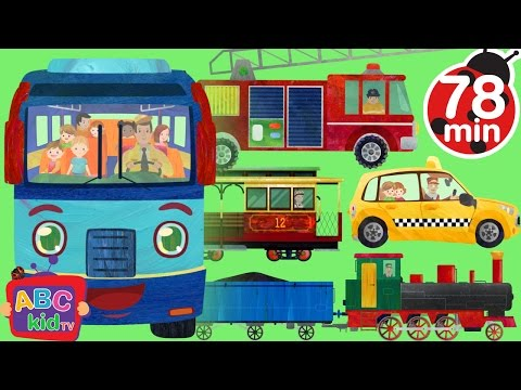 Wheels On The Bus Go Round And Round Songs for Children