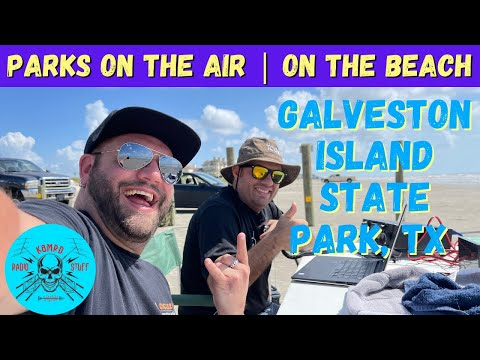 Parks on the Air on the Beach   Galveston Island State Park K-3013