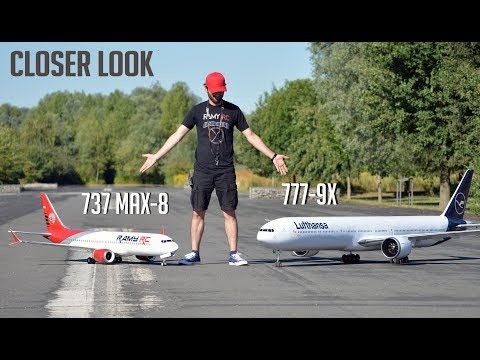 Closer look at the Boeing 777-9X RC airliner, running more tests, NO FLYING!! - UCaLqj-d_p8iuUfda5398igA
