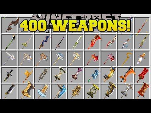 Minecraft: 400+ NEW WEAPONS!!! (BIGGEST WEAPON MOD IN MINECRAFT!) Mod Showcase