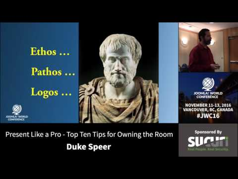 JWC 2016 - Present Like a Pro - Top Ten Tips for Owning The Room - Duke Speer
