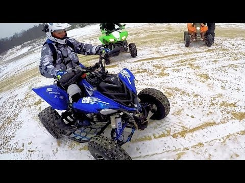 Yamaha Raptor 700 vs Suzuki ltz 400 // This raptor is not so fast ""