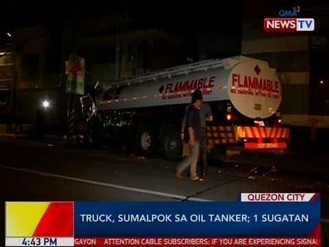 BP: Truck, sumalpok sa oil tanker sa QC; 1 sugatan