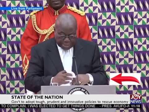 Watch where President  Akufo-Addo Keeps His Handkerchief on Adom TV (21-2-17)
