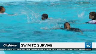 Pilot project teaches swim safety skills to new Canadians