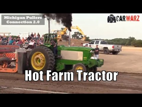 Hot Farm Tractor Class From West Michigan Pullers In Hastings 2018