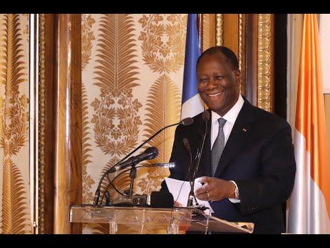 SEM OUATTARA, a fait une communication lors de la cérémonie d'inauguration de la Bibliothèque FHB