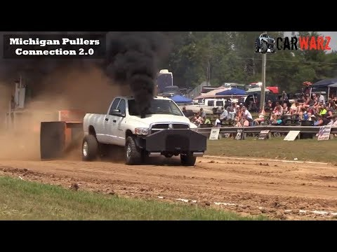 HOT Diesel Truck Class At WMP Truck Pulls In Morley Michigan 2018