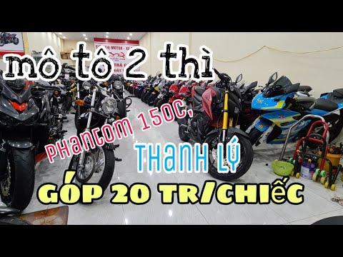 test môtô và báo giá lô mới về có moto hai thì Phantom cổ điển, bình dương