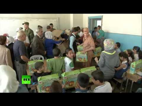 Военные РФ доставили гумгруз в сирийскую школу