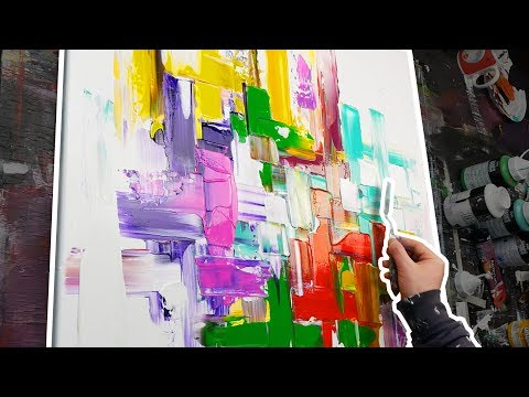 Abstract Painting | Only With Palette Knife | Nirvana