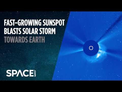 Fast-Growing Sunspot Blasts Solar Storm Towards Earth - UCVTomc35agH1SM6kCKzwW_g