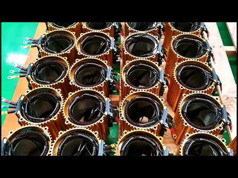 Induction motors Denzel DA series. Making wire.