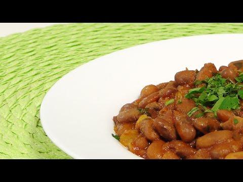 Фасоль в томате видео рецепт