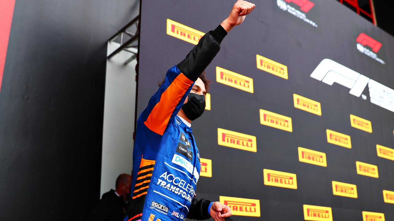 Lando Norris: King Of The In-Car Wave! #Shorts