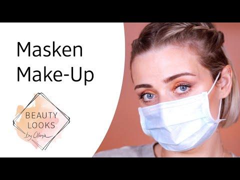 Masken Make-Up Look mit Olesja