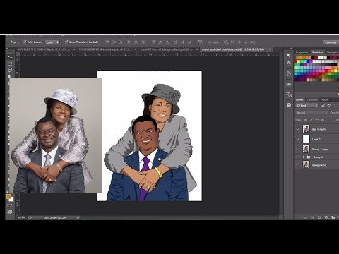 Turning pictures to 2d images/cartoons - Photoshop tutorial