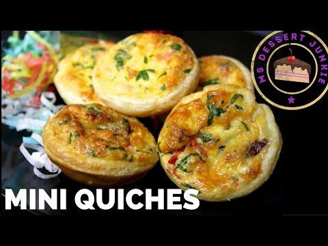 MINI QUICHES RECIPE - FINGER FOOD | MsDessertJunkie