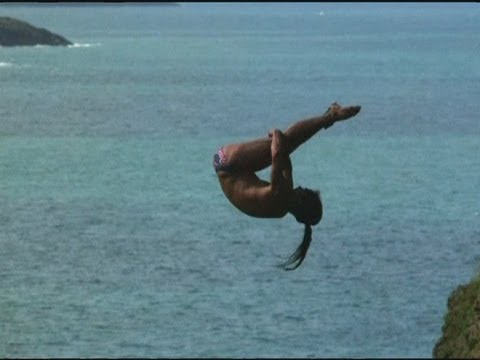 Amazing Dives At Red Bull Cliff Diving Series At Blue Lagoon