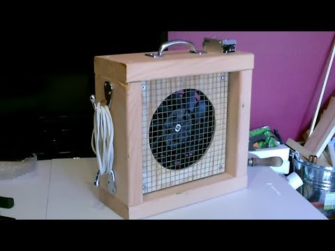 "DIY 12V ""Mini"" Box Fan! (13"" Sqr) ~ W/Full-Size Power! ~ 1500 CFM! 20MPH! - Solar/Batt. Pwrd!  EZ DC"