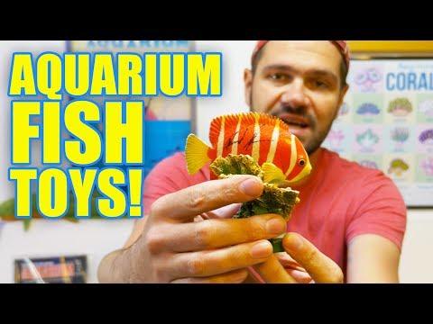 AQUARIUM FISH TOYS: Unboxing Beautiful Coral Reef & Fossil Fish Figurines/Action Figures