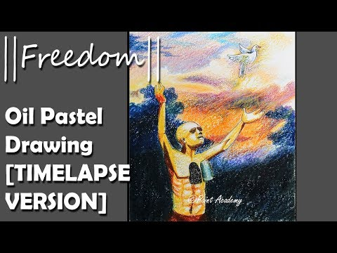 || FREEDOM || Independence Day special Oil Pastel Creative Drawing : TIMELAPSE VERSION