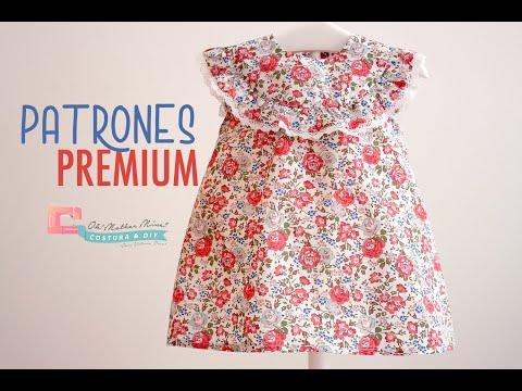 Blusita liberty roja para niñas (tallas de 9 meses a 8 años)