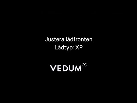 Vedum Kök & Bad - Justering lådfront (XP)