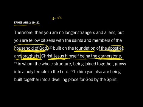 Ephesians 2:1922 // Part 2 // Are New Testament Prophets Foundational to the Church?