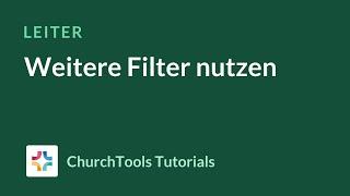 Weitere Filter nutzen