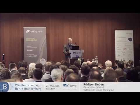 Rüdiger Siebers, Gesamtbetriebsrat Vattenfall Europe Mining AG