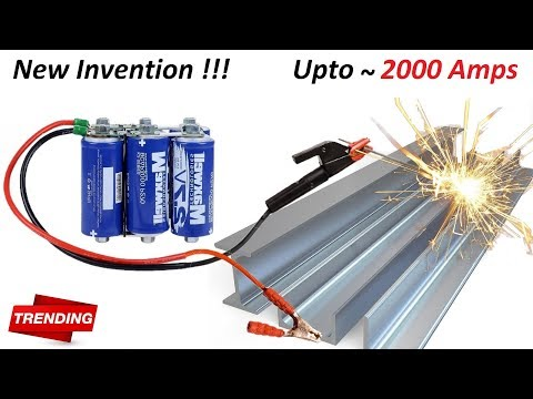 New Invention ! Make 2000 Amps Welding Machine using 220V DC Capacitor Bank